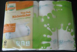 Globus Küchentücher Mega P. 3-lag. 8x45