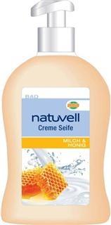 natuvell Cremeseife 500ml, Milch & Honig