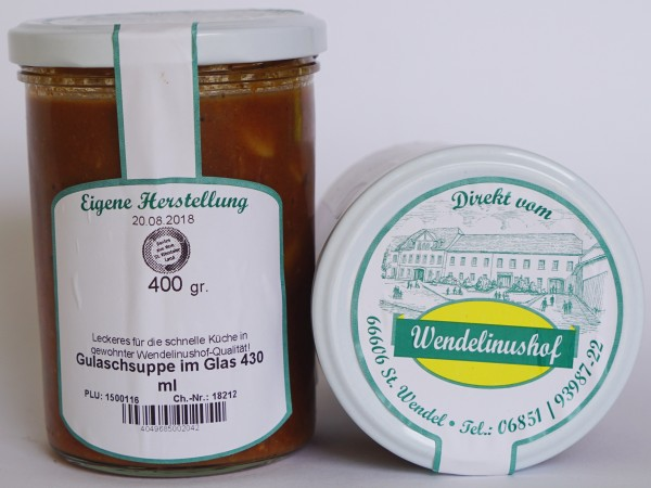 Gulaschsuppe im Glas 430 ml Wendelinushof