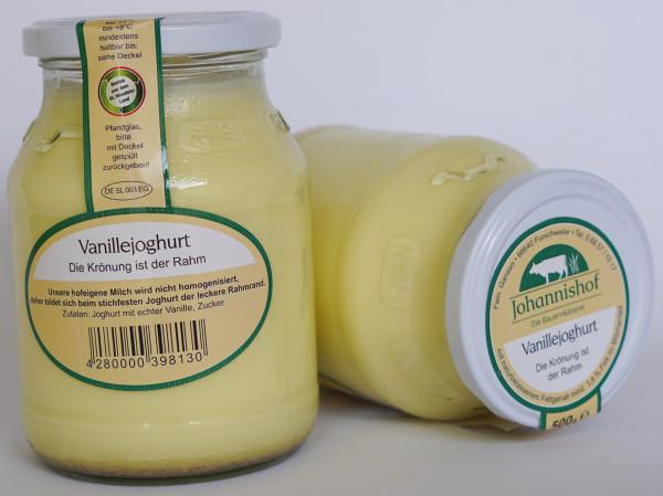 Joghurt Vanille 500 g Johannishof