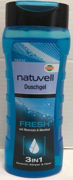 natuvell Men Dusche 300ml, Fresh